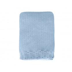 Copertina tricot Personalizzabile - celeste