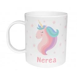 Tazza di plastica Personalizzata - Unicorno Rosa