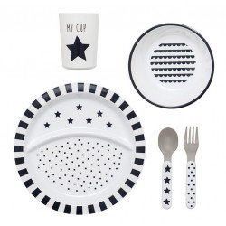Set Pappa in Plastica Star Black