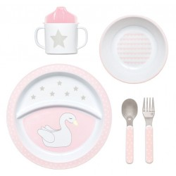 Set Pappa in Plastica Star Pink