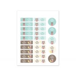 25 Etichette termoadesive personalizzate - Orsetto