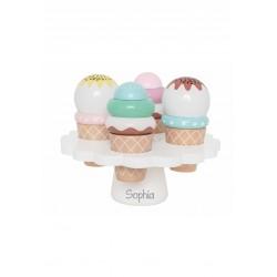 Alzatina con gelati Personalizzabile