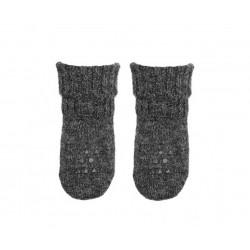 1 paio di calze anti-scivolo in lana Alpaca - antracite