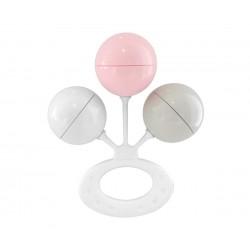 Sonaglino a 3 sfere Rosa