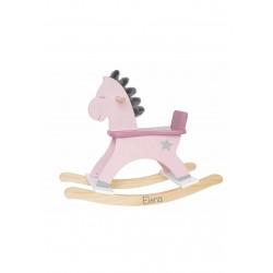Cavallo in legno a dondolo Personalizzabile