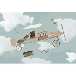 Carta da parati personalizzata per stanzetta-Cani Aviatori