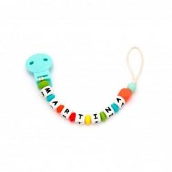 Porta - ciuccio e dentarello Personalizzato - multicolor