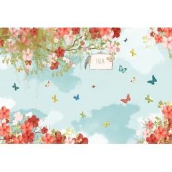 Carta da parati personalizzata per stanzetta-Farfalle