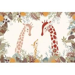Carta da parati personalizzata per stanzetta-Giraffe