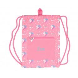 Sacca Impermeabile Personalizzata Unicorno Rosa