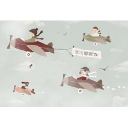 Carta personalizzata per stanzetta -Volare
