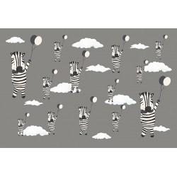 Carta personalizzata per stanzetta -Zebre volanti