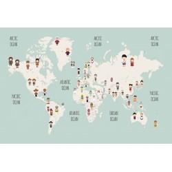 Carta da parati personalizzata per Stanzetta - Mappa Nazioni