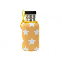 Borraccia in acciaio stelle gialle con fodera  personalizzabile