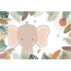 Carta da parati personalizzata per bimbi (al mq)-Elefante Grande