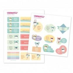 30 Etichette  adesive personalizzate - Esther Gili