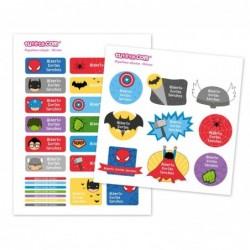 30 Etichette adesive personalizzate - Eroi