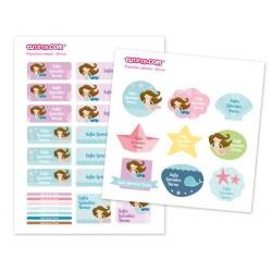 30 Etichette adesive personalizzate - Sirena