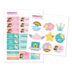 30 Etichette adesive personalizzate - Principessa