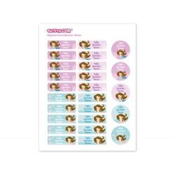 25 Etichette termoadesive personalizzate - Sirena