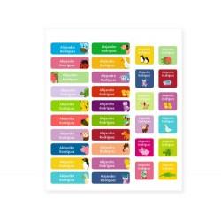 32 Etichette termoadesive personalizzate - Animali