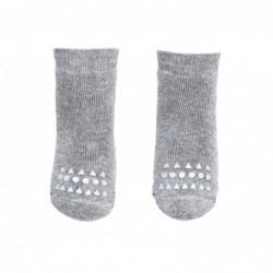 3 paia di calze anti-scivolo - grigio chiaro
