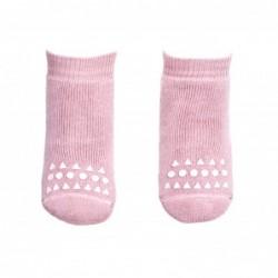 3 paia di calze anti-scivolo - rosa polvere